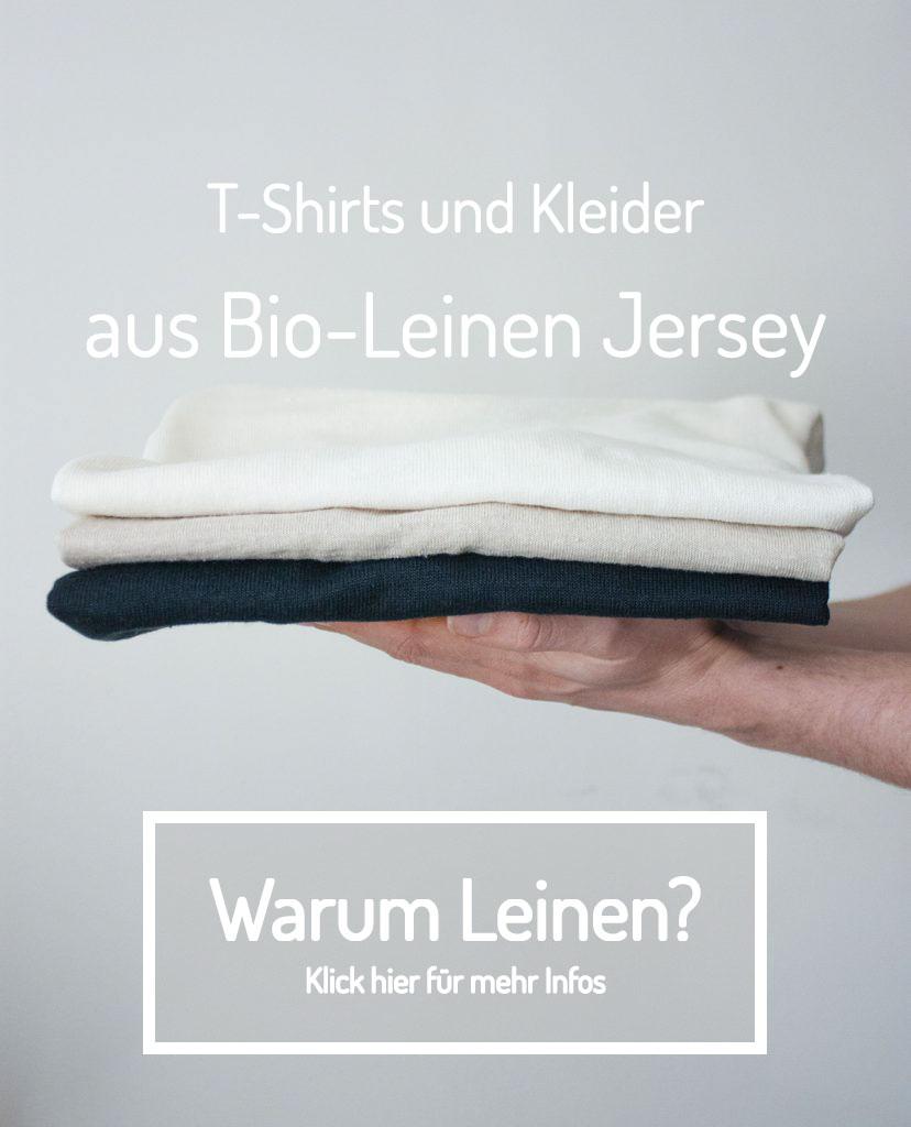 T-Shirts und Kleider aus Bio-Leinen Jersey von Scheinheilig