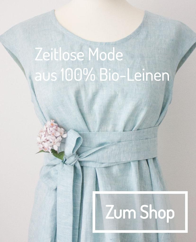 Zeitlose Mode aus 100% Bio-Leinen - zum Shop