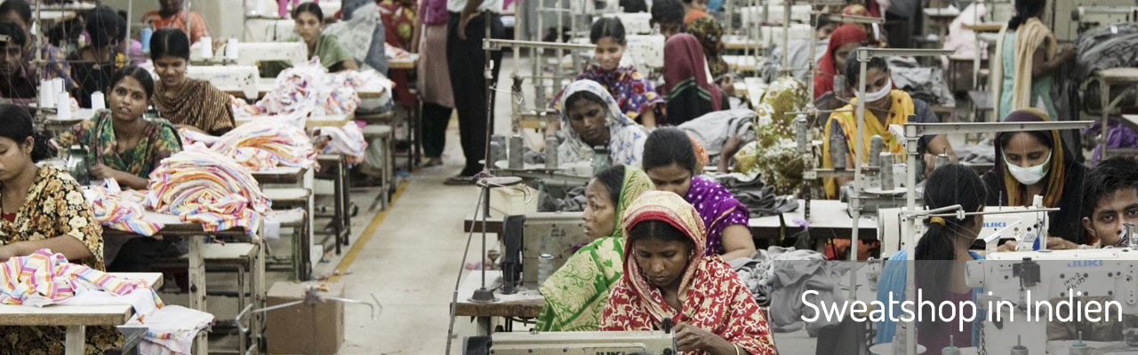 Sweatshop in Indien