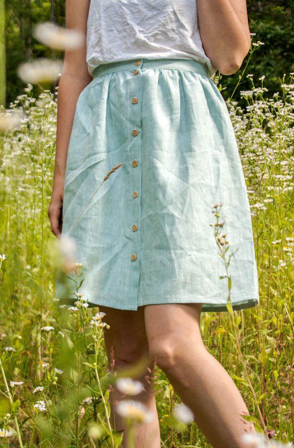 Rock Magnolia aus 100% Bio-Leinen von Scheinheilig - nachhaltige mode aus österreich
