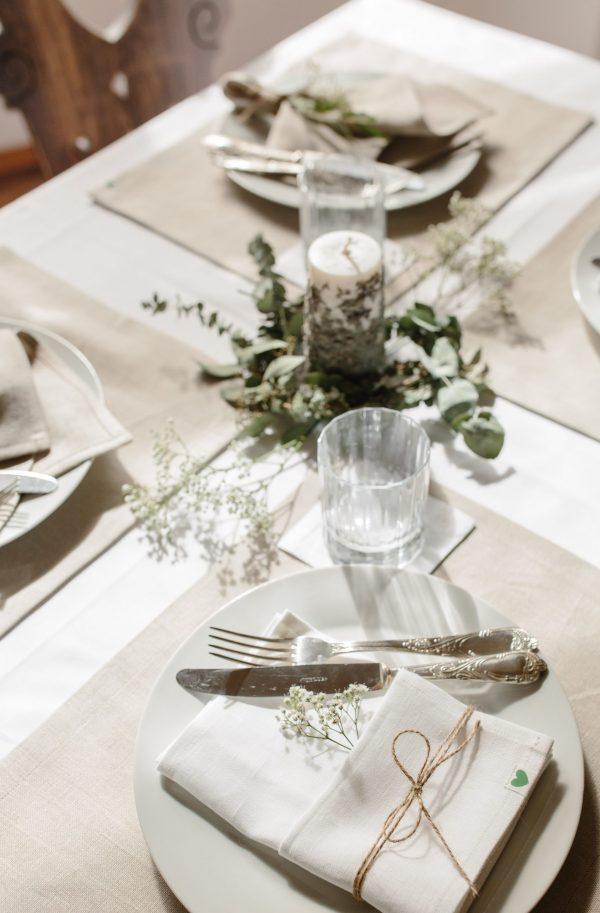 Tischsets aus Bio Leinen