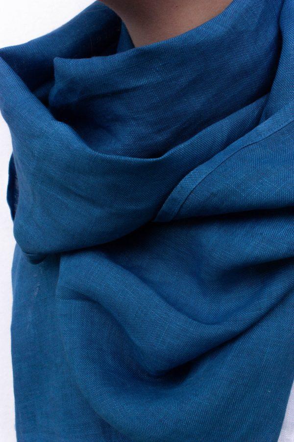 Pflanzengefärber Bio Leinen Schal